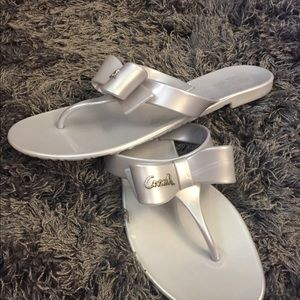 Coach Sandals!!!! Size 8! Only worn twice!!!